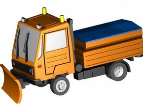 Multicar Schneepflug/snowplow in Smooth Fine Detail Plastic