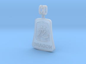 Chinese 12 animals pendant with bail - thedragon in Smooth Fine Detail Plastic