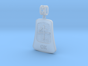 Chinese 12 animals pendant with bail - theox in Smooth Fine Detail Plastic