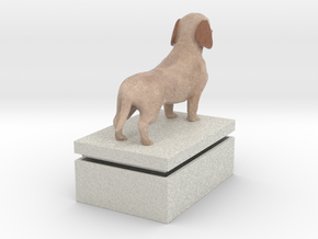 Daschund in Full Color Sandstone