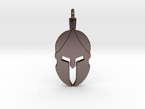 Spartan Helmet Pendant/Keychain in Polished Bronze Steel