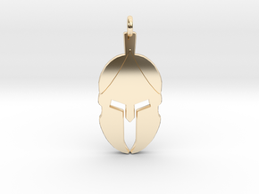 Spartan Helmet Pendant/Keychain in 14k Gold Plated Brass