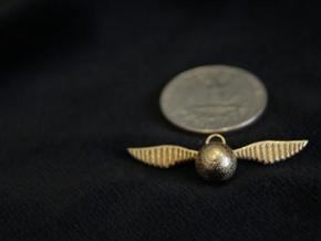 Snitch Pendant (Small) in Polished Gold Steel