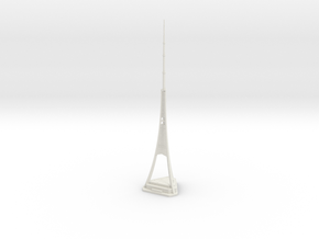 Riga Radio & TV Tower (1:2000) in White Natural Versatile Plastic