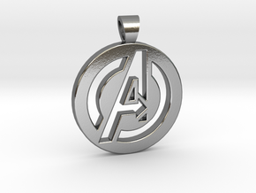 Avengers [pendant] in Polished Silver