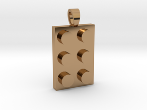 Constructor first brick [pendant] in Polished Brass