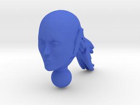 Pony Girl Centauia Head  in Blue Processed Versatile Plastic