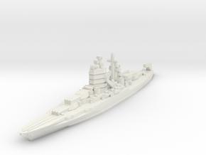 New Mexico class battleship 1/2400 in White Natural Versatile Plastic