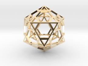 Icosahedron in 14K Yellow Gold