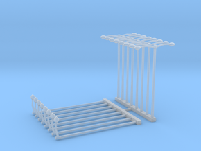 Street Light - Single and Double - Sprue  in Smooth Fine Detail Plastic