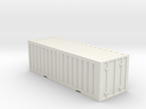 Shipping Container  in White Natural Versatile Plastic