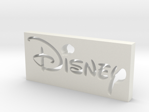 Disney Logo in White Natural Versatile Plastic