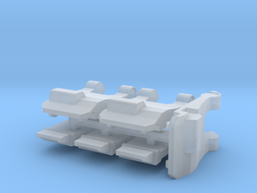 Tug Set - Towbar-less Pushback tugs in Smooth Fine Detail Plastic