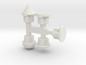 """5mm Port """"Plugs"""" in White Natural Versatile Plastic"""