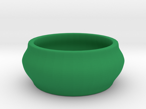 Birdbath for the toy birds in Green Processed Versatile Plastic