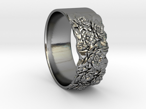 Bouquet Ring in Fine Detail Polished Silver
