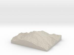 Model of Cockscomb in Natural Sandstone
