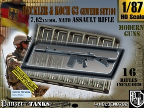 1/87 HK G-3 Rifle Set101 in Smoothest Fine Detail Plastic