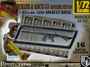 1/72 HK G-3 Rifle Set101 in Smoothest Fine Detail Plastic