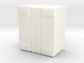 Military Grenade Box in White Processed Versatile Plastic