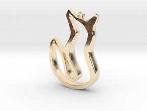 A Fox's Tale in 14k Gold Plated Brass