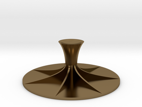 Compact Coffee Tamper in Polished Bronze