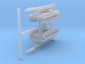 1/285 (6mm) Frog 3 (2K6 Luna) rocket complex (x2) in Smooth Fine Detail Plastic