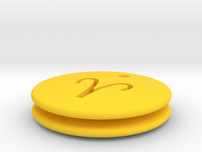 Aries Symbol Earring in Yellow Processed Versatile Plastic
