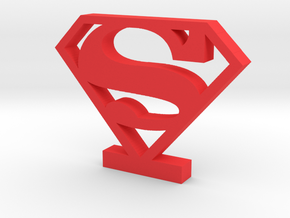 Superman Logo (Classic) in Red Strong & Flexible Polished