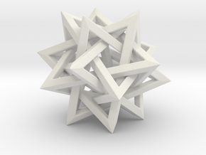 "Five Tetrahedra (2"") in White Premium Strong & Flexible"