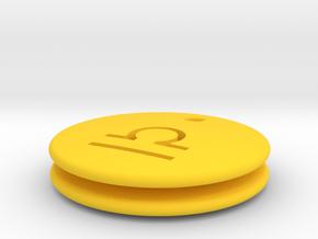 Libra Symbol Earring in Yellow Processed Versatile Plastic