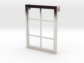 Window - Pendant in Rhodium Plated Brass