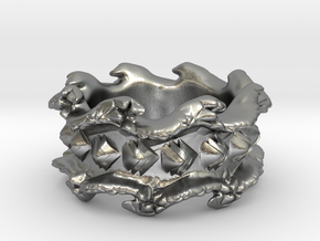 Ocean Wave Ring in Natural Silver: 10.5 / 62.75