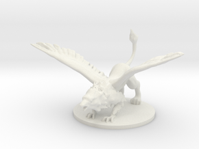 Griffon in White Natural Versatile Plastic