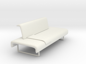 Miniature Cloud Sofa - B&B Italia in White Natural Versatile Plastic: 1:12