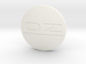 OZ center cap Nabendeckel - OZ Emblem curved in White Processed Versatile Plastic