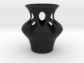Simple Modern Home and Office Vase in Black Natural Versatile Plastic