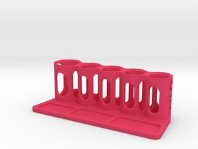Pit Organizer V1 in Pink Processed Versatile Plastic