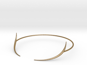 Curved Tusk in Polished Gold Steel