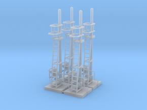 Gruppo 5 di 4 segnali in scala H0 in Smooth Fine Detail Plastic