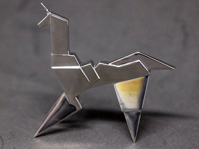 Gaff's Unicorn | Blade Runner Origami in Rhodium Plated Brass