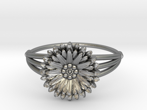 Aster - The Ring of September in Natural Silver