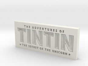 Tintin Logo in White Natural Versatile Plastic