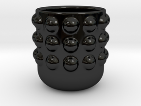SmoothMug with Dots in Gloss Black Porcelain