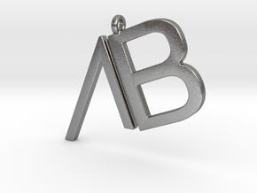 Custom Logo Pendant in Natural Silver