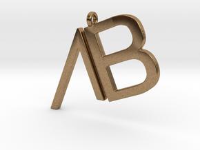 Custom Logo Pendant in Natural Brass