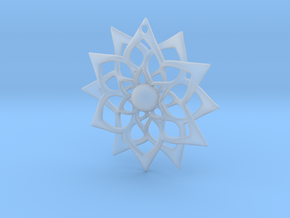 851 Flower Pendant in Smooth Fine Detail Plastic