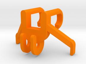 Softball Bat Holder in Orange Processed Versatile Plastic