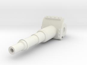 Short 120mm Cannon in White Natural Versatile Plastic