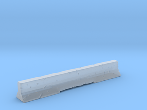 Concrete Road Barrier in Smooth Fine Detail Plastic